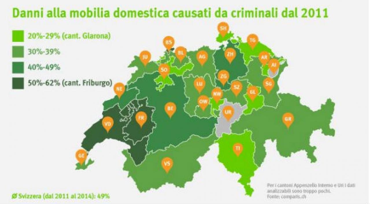 Ticinonline la met dei danni alla mobilia domestica for Zurich mobilia domestica