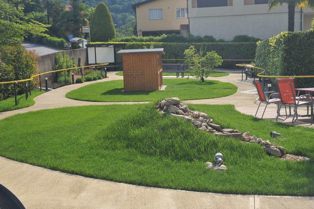 Ticinonline Inaugurato Il Giardino Sensoriale Alla Casa