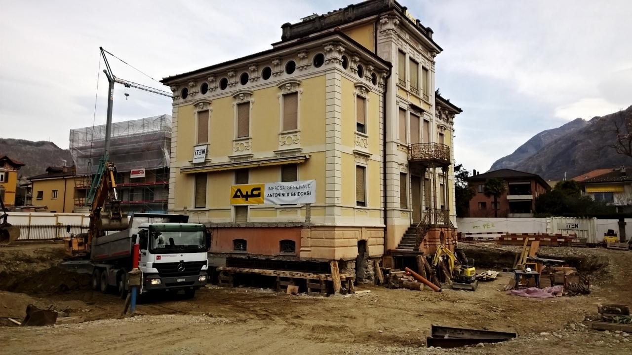 Ticinonline ecco come sposteremo una villa da 1450 for Come costruire una villa