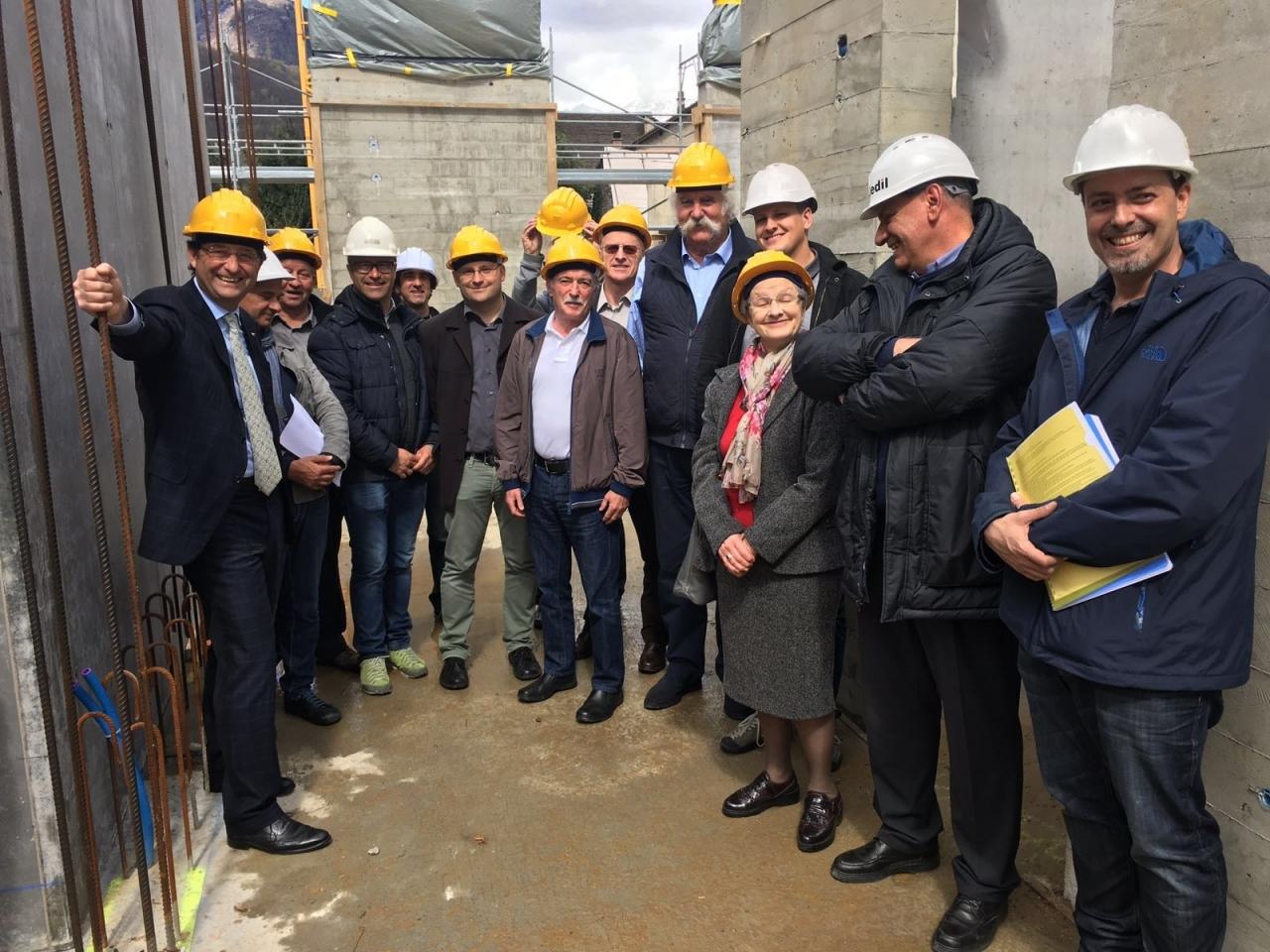 Ticinonline beltraminelli in visita al cantiere della for Costo della nuova casa