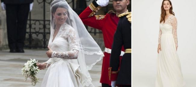 L\'abito da sposa di Kate Middleton versione low cost - Ticinonline