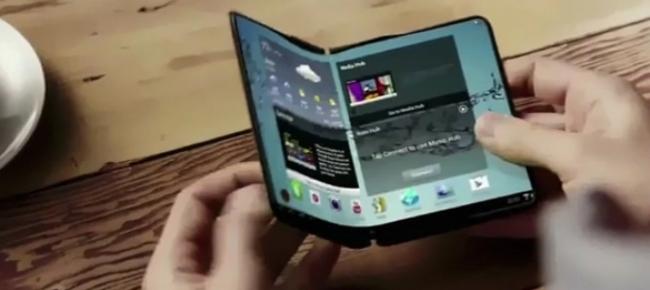 Risultati immagini per samsung schermo flessibile