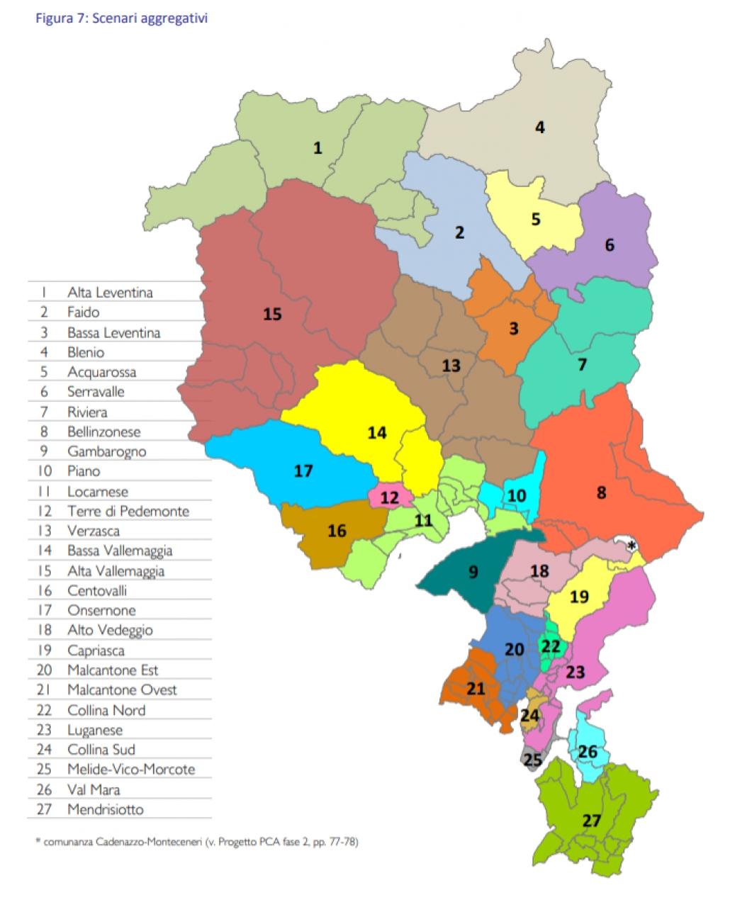 Cartina Ticino Svizzera.Il Ticino Del Futuro Avra Solo 27 Comuni Ticinonline