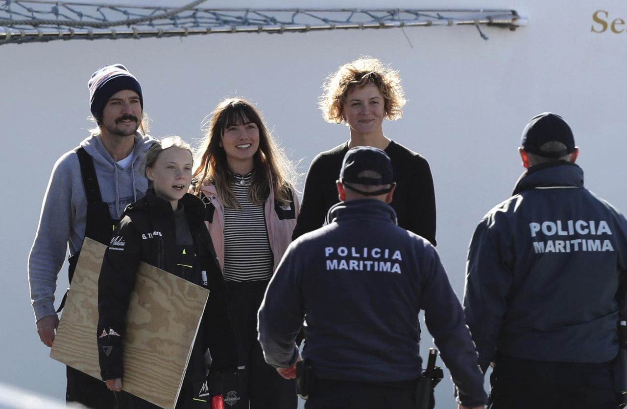 Greta Thumberg sbarca a Lisbona: