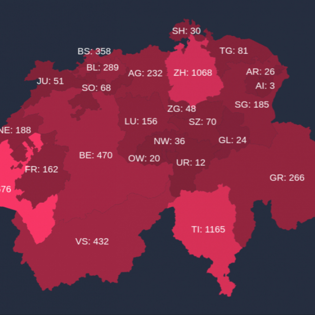 Cantoni Cartina Politica Svizzera.Un Dottorando Bernese Ha Realizzato Una Piattaforma Per Monitorare Il Covid 19 Ticinonline