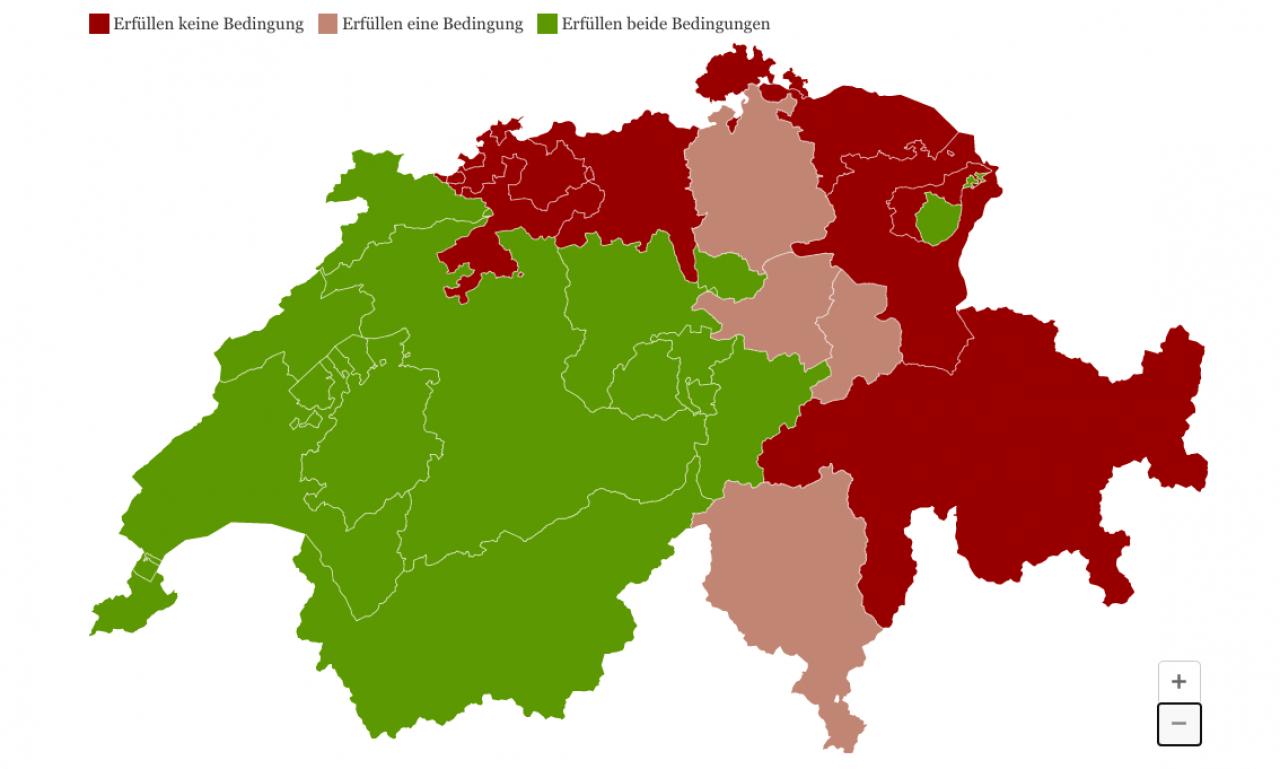 Cartina Politica Svizzera Cantoni.Il Graben Dei Ristoranti Ecco La Mappa Ticinonline